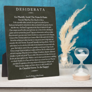 Desiderata Blackboard Chalk Art Photo Plaque