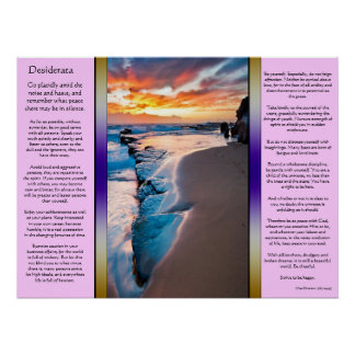 Desiderata Blue Ocean Posters