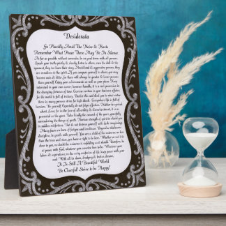Desiderata Chalk Art Display Plaques
