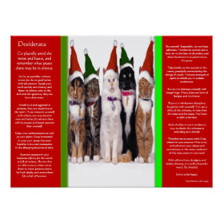 DESIDERATA Christmas Cats Posters Poster
