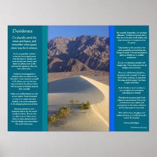 DESIDERATA Desert Range Posters Poster