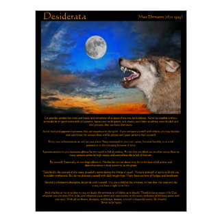 Desiderata Night Howl Posters
