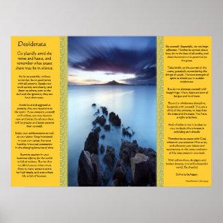 Desiderata Ocean Walkway Posters Poster