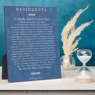 Desiderata on Denim Display Plaque