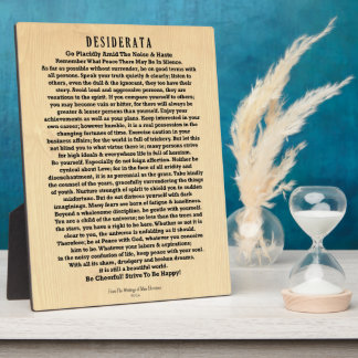 Desiderata on Rustic Wood Plank Plaques