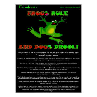 Desiderata Posters frog Poster