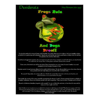Desiderata Posters frog rule Poster