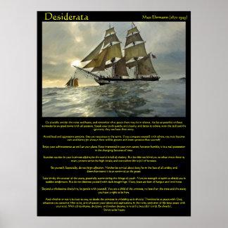 Desiderata Sail Boat Posters