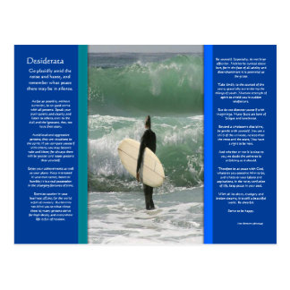 DESIDERATA Surfing The Wave Postcard
