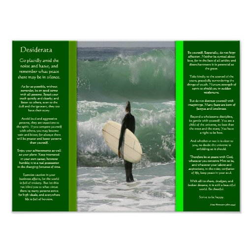 DESIDERATA Surfing The Wave Posters