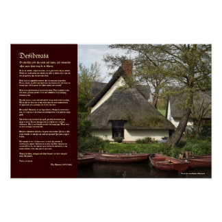Desiderata - Thatched Cottage of Willy Lott Print