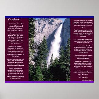 DESIDERATA Waterfalls Posters 2 Poster