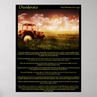 Desiderata Wheat Fields Posters