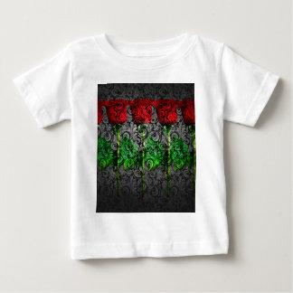 design art red green rose baby T-Shirt