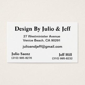 Design By Julio & Jeff Business Card