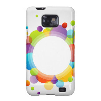 Design element with colorful circles galaxy SII covers