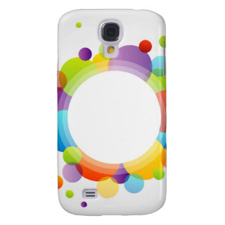Design element with colorful circles galaxy s4 case