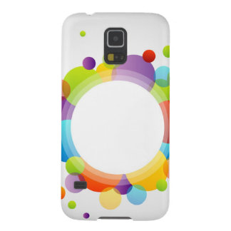 Design element with colorful circles galaxy s5 case