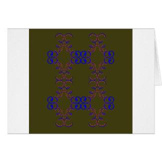 Design elements bio ethno card