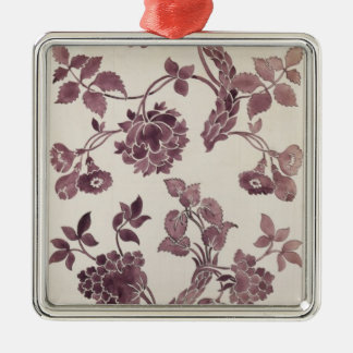 Design for a silk damask, 1752 (pencil and w/c on christmas ornament