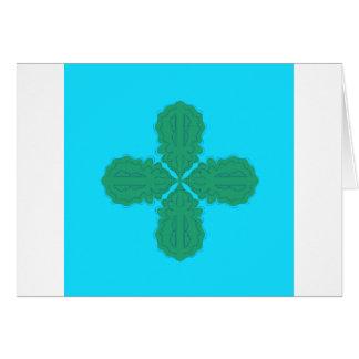 Design Mandala blue bio Card