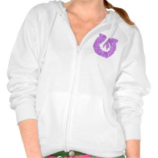Design on Pocket : Women's Fleece Raglan Zip Hoodi Pullover