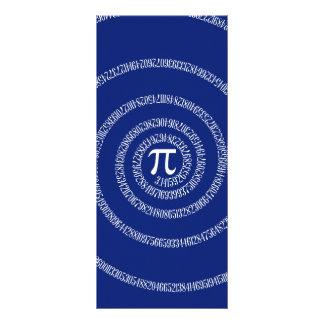 Design Spiral for Pi on Navy Blue Customized Rack Card