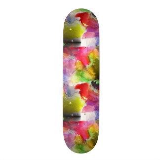 Design texture red, yellow watercolor skateboard decks