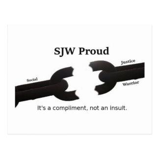 Design To Display Social Justice Warrior Pride Postcard
