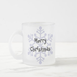 Design Your Own Cartoon Cat (Christmas) Frosted Glass Mug
