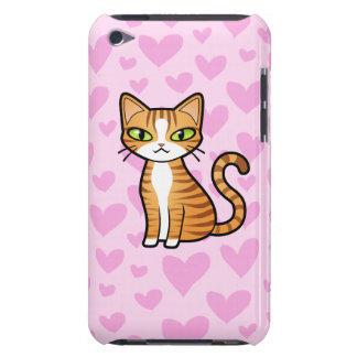 Design Your Own Cartoon Cat (love hearts) iPod Case-Mate Cases