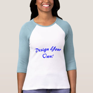 Design Your Own White And Baby Blue Tees