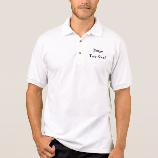 Design Your Own White Polo T-shirts