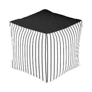 Designer Black And White Pouf