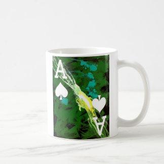 Designer Coffee mug Poker Art Ace of Spades Green