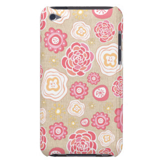 Designer Flowers Pattern itunes IPOD Touch Cover