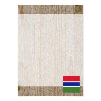 Designer Gambia Flag Box 13 Cm X 18 Cm Invitation Card