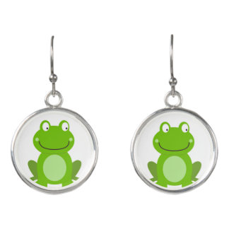 Designers earrings Edition with Frogs