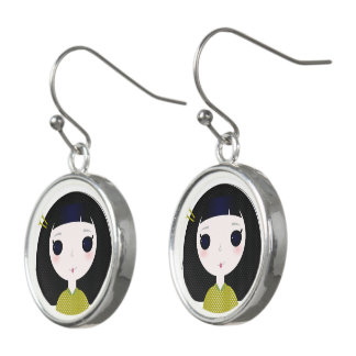 Designers earrings with Little geishas