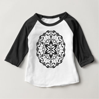 Designers mandala art : black white baby T-Shirt