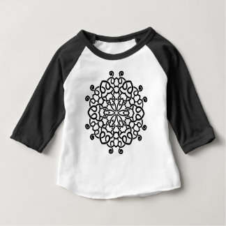 Designers mandala collection : black beige baby T-Shirt