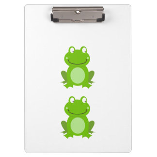 Designers office clipboard with 2 frogs