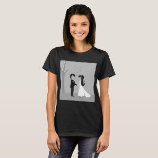 Designers tshirt with Bride and groom