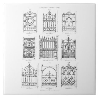 Designs for cast-iron gates, from 'Macfarlane's Ca Tile
