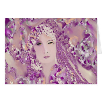 Desire Woman on Lavender Blank Greeting Card