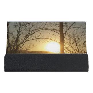 Desk business card holder