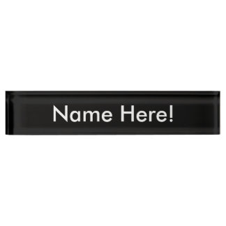 Desk Nameplate