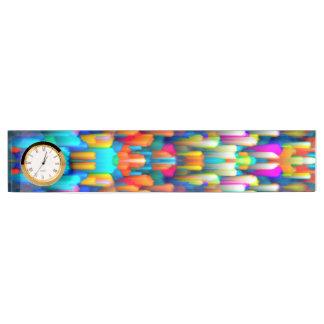 Desk Nameplate Colorful digital art splashing