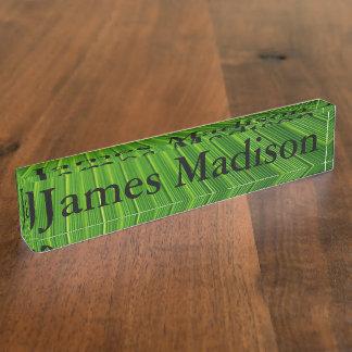 Desk Nameplate - HAMbyWhiteGlove - Green