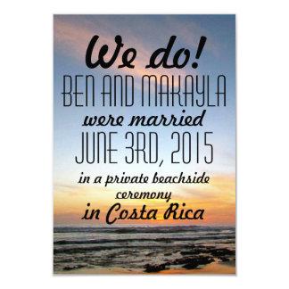 Destination Beach Eloped/Wedding Announcements